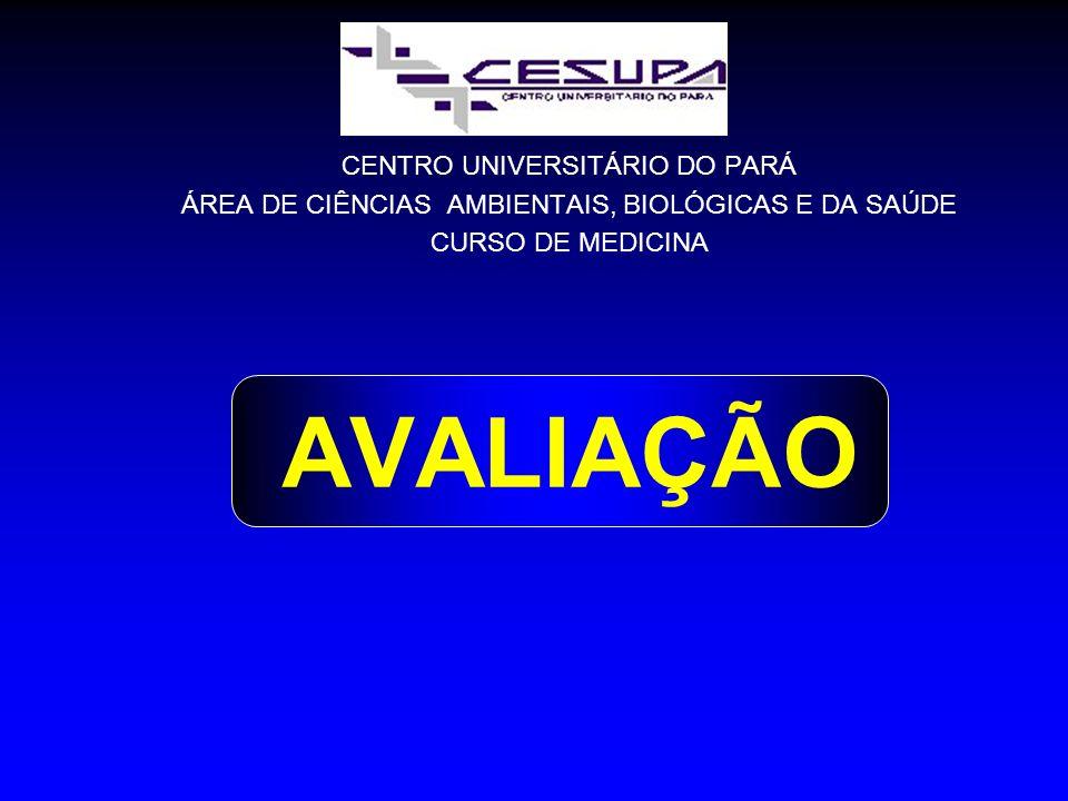 AVALIAÇÃO CENTRO UNIVERSITÁRIO DO PARÁ