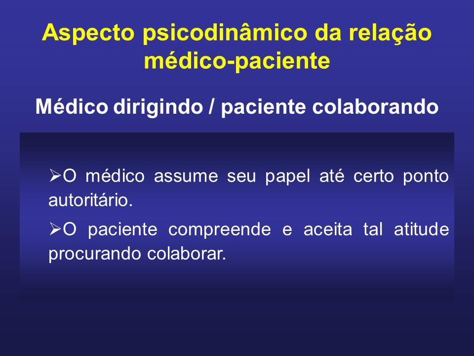 Aspecto psicodinâmico da relação médico-paciente