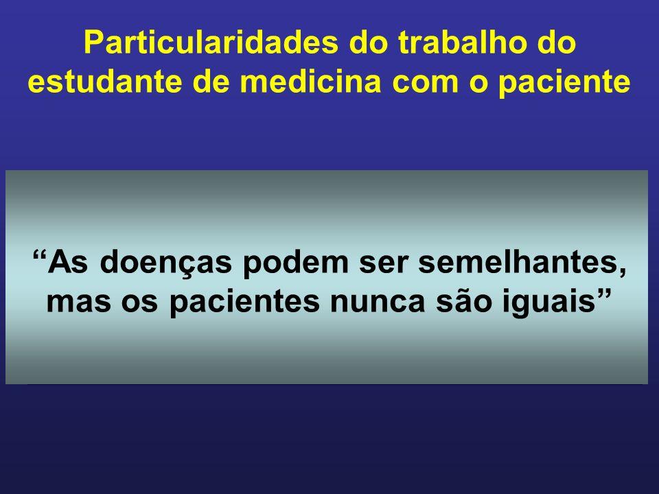 Particularidades do trabalho do estudante de medicina com o paciente