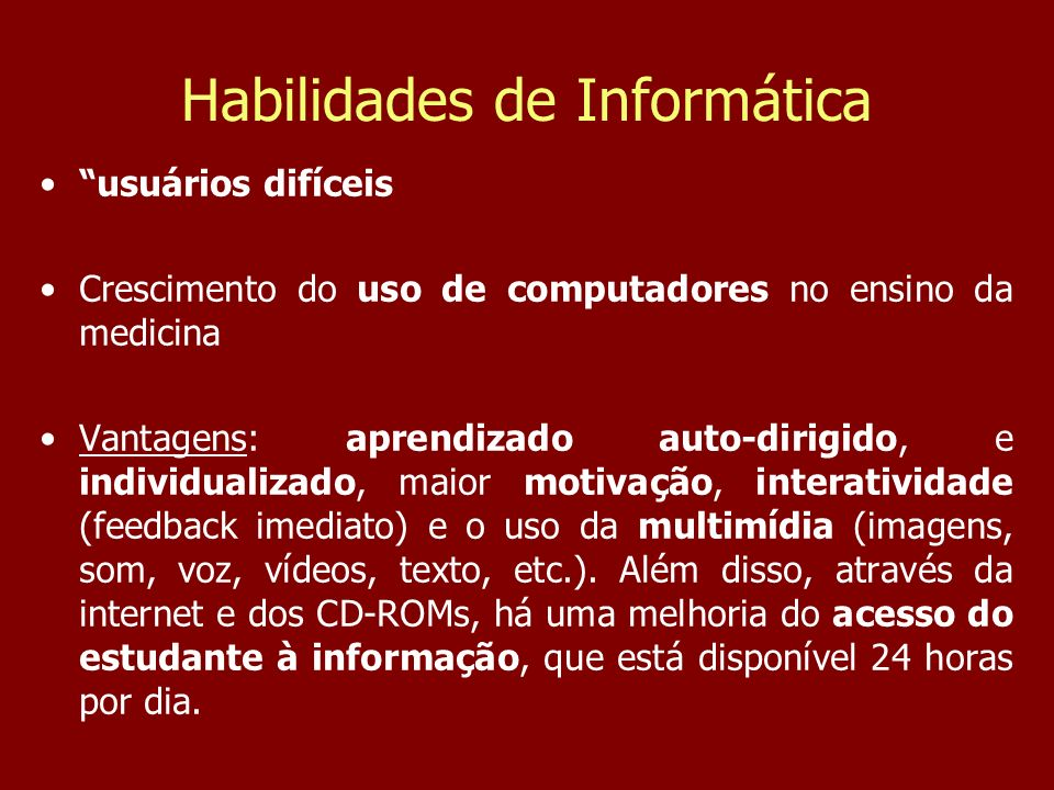 Habilidades de Informática