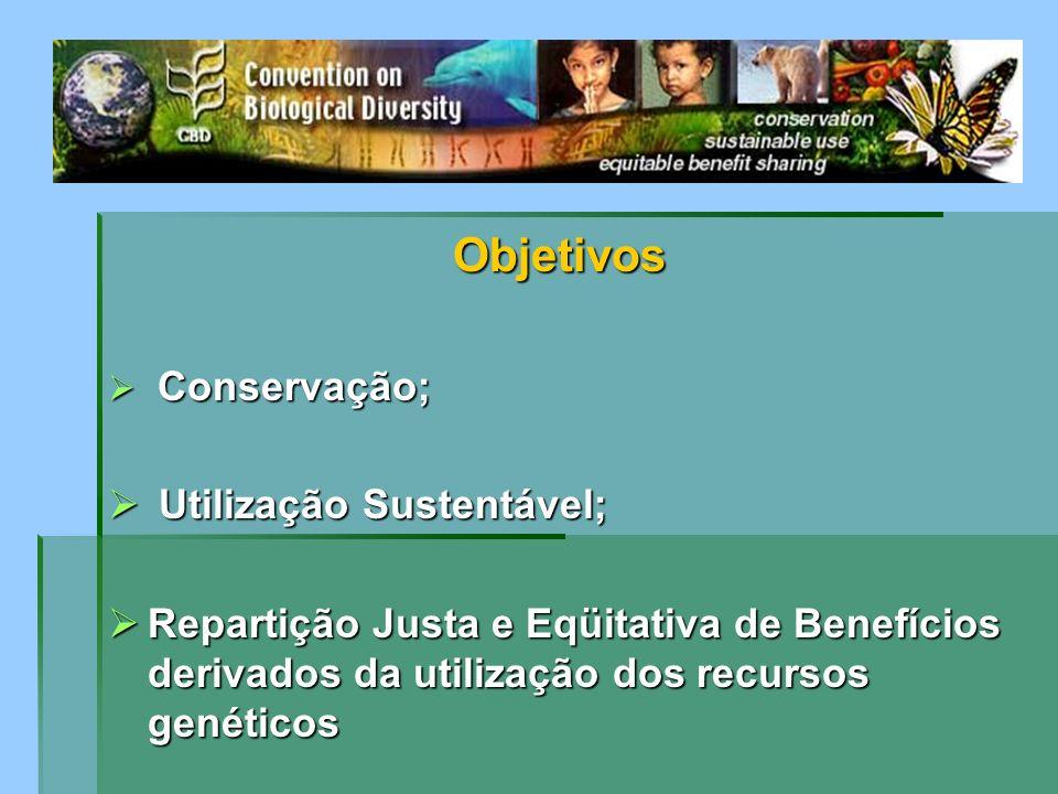 Objetivos Utilização Sustentável;