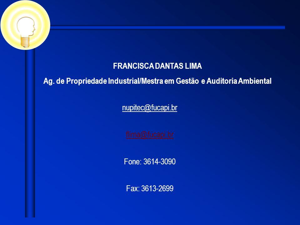 Ag. de Propriedade Industrial/Mestra em Gestão e Auditoria Ambiental