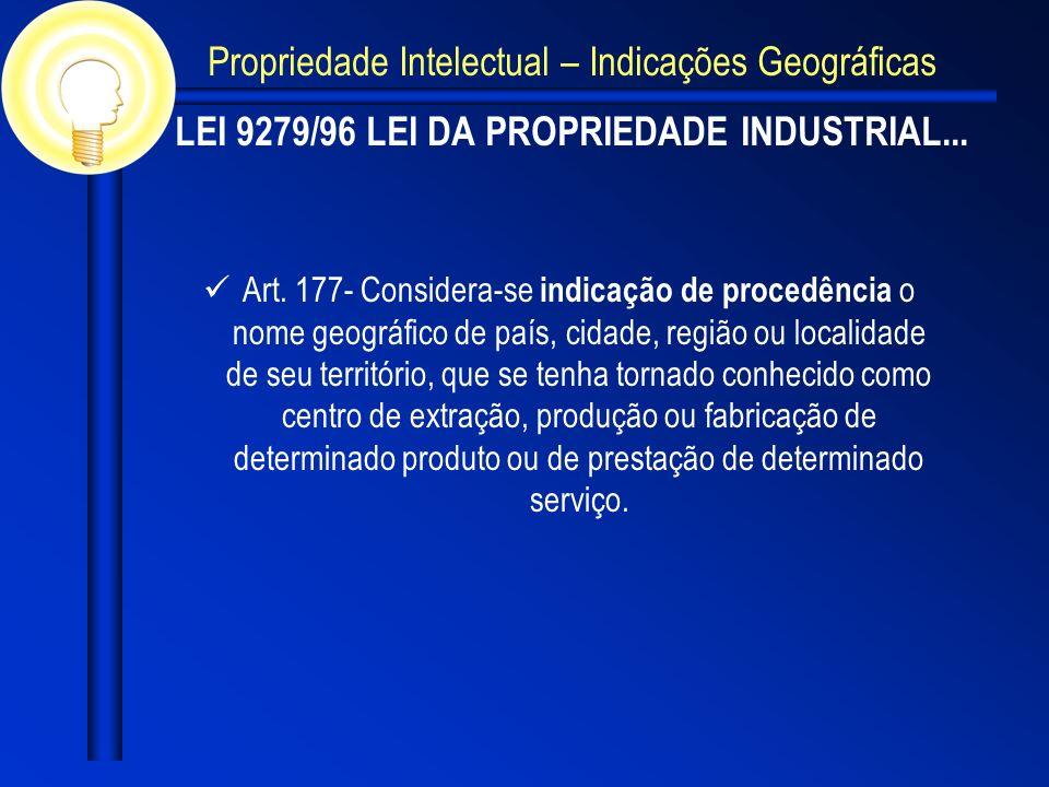 LEI 9279/96 LEI DA PROPRIEDADE INDUSTRIAL...
