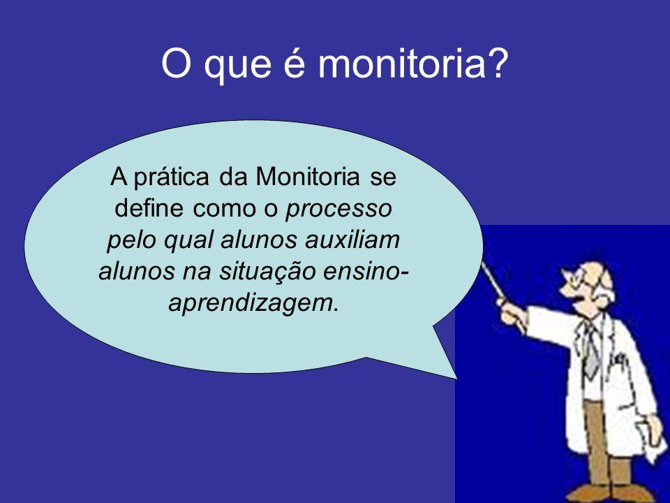 O que é monitoria.