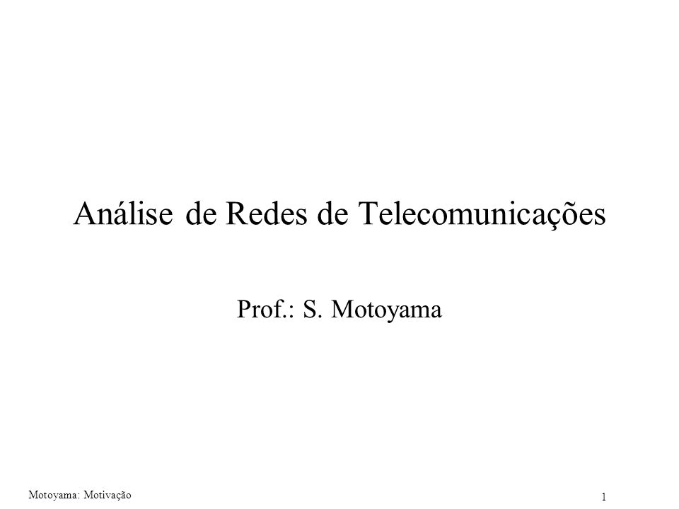 Análise de Redes de Telecomunicações