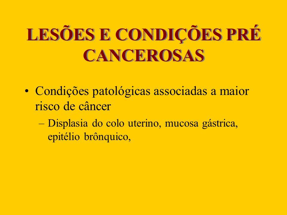 LESÕES E CONDIÇÕES PRÉ CANCEROSAS