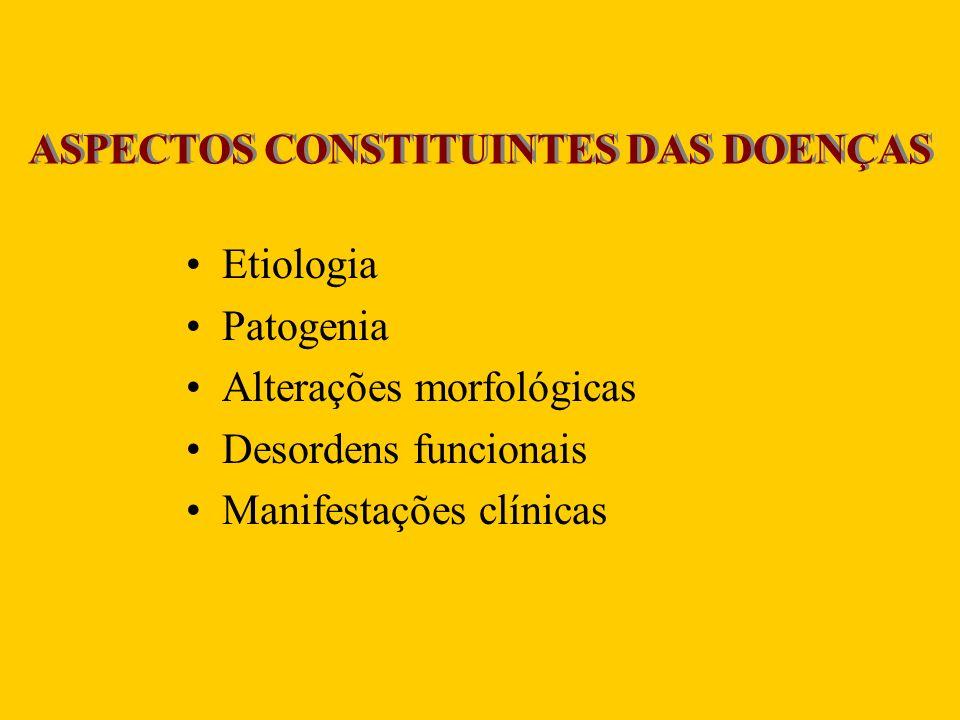 ASPECTOS CONSTITUINTES DAS DOENÇAS