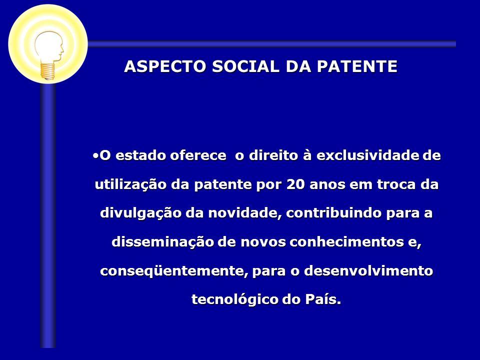 ASPECTO SOCIAL DA PATENTE