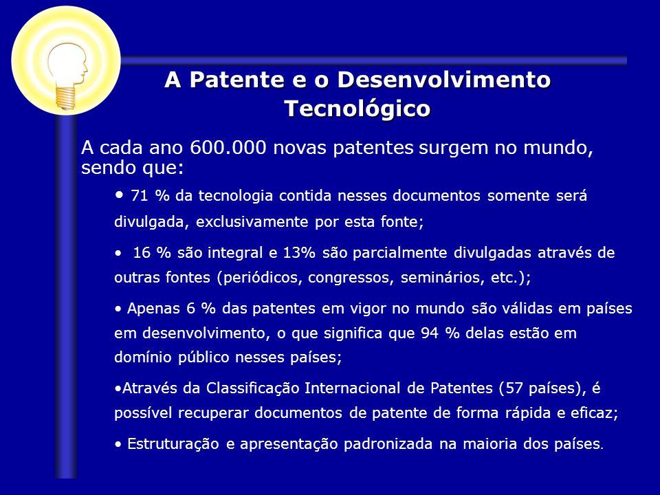 A Patente e o Desenvolvimento Tecnológico