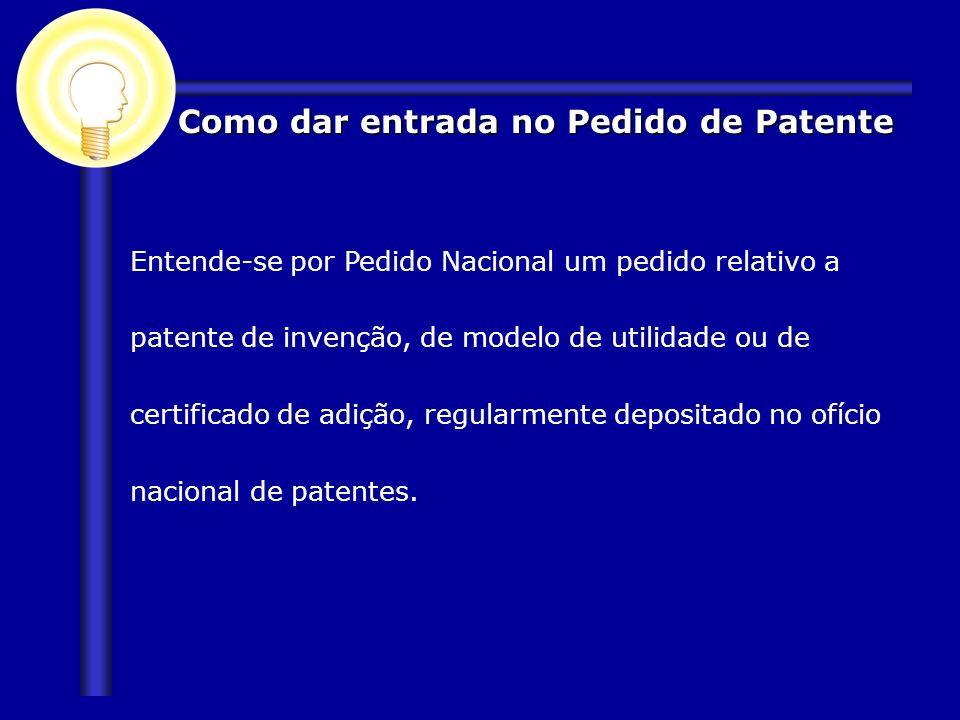 Como dar entrada no Pedido de Patente