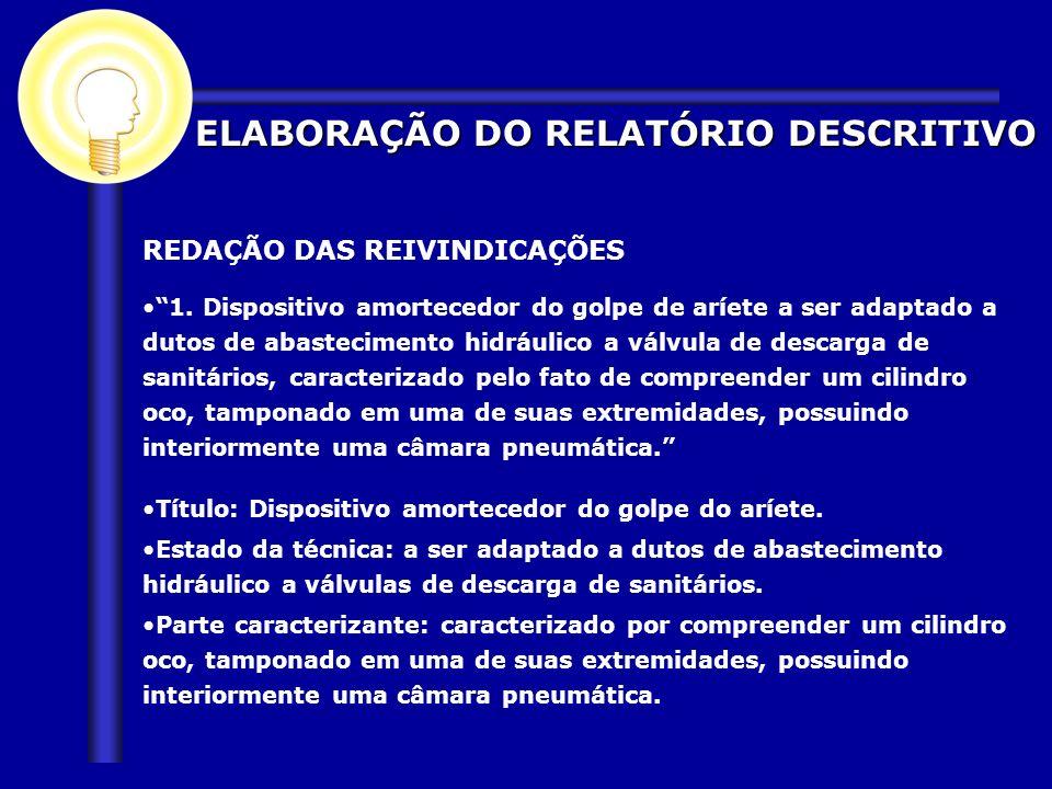ELABORAÇÃO DO RELATÓRIO DESCRITIVO