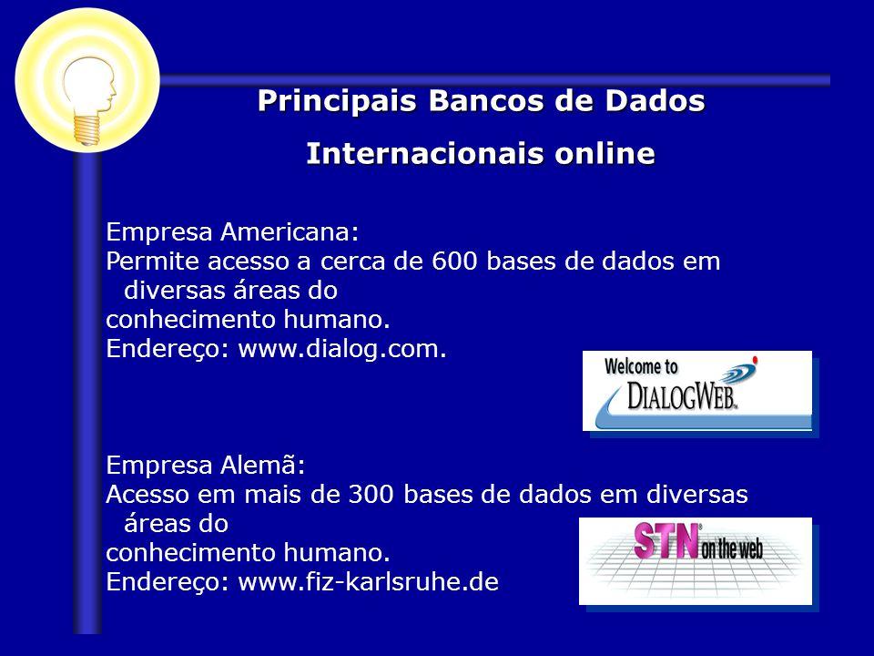 Principais Bancos de Dados Internacionais online