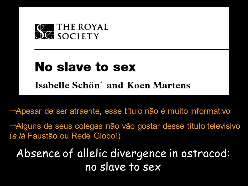 Absence of allelic divergence in ostracod: no slave to sex