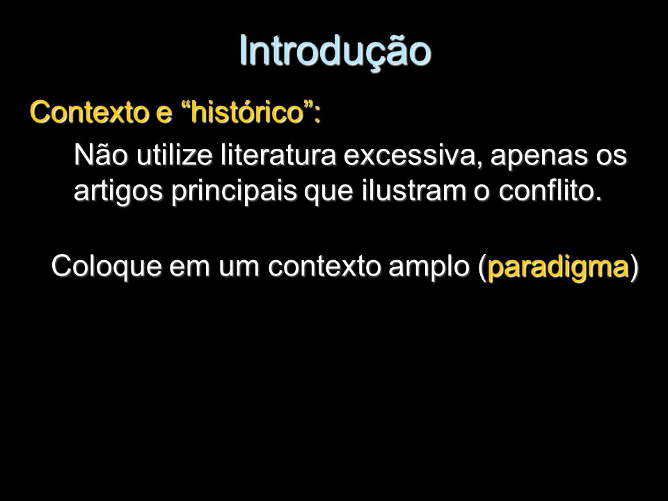 Introdução Contexto e histórico :