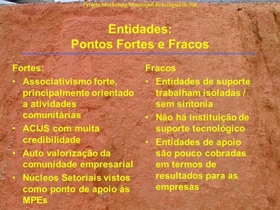 Entidades: Pontos Fortes e Fracos