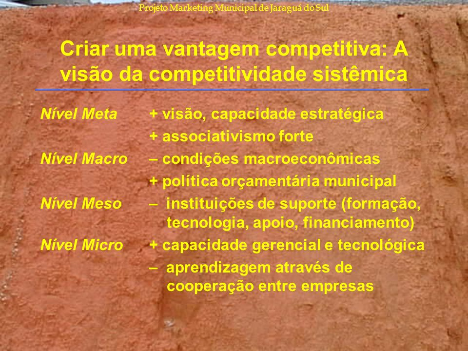 Criar uma vantagem competitiva: A visão da competitividade sistêmica
