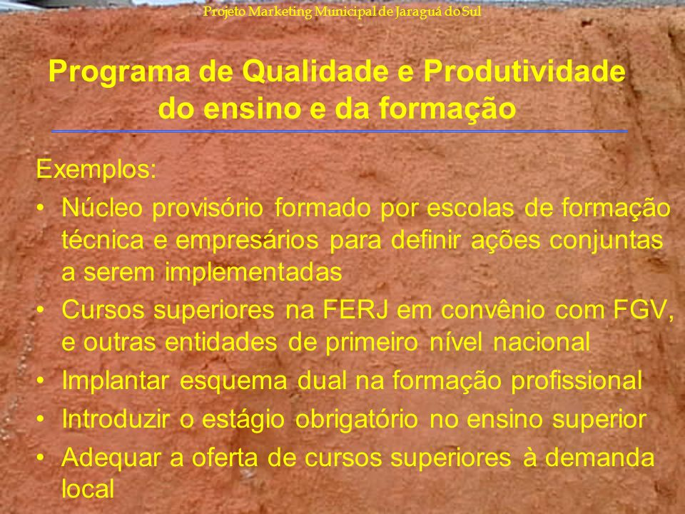 Programa de Qualidade e Produtividade do ensino e da formação