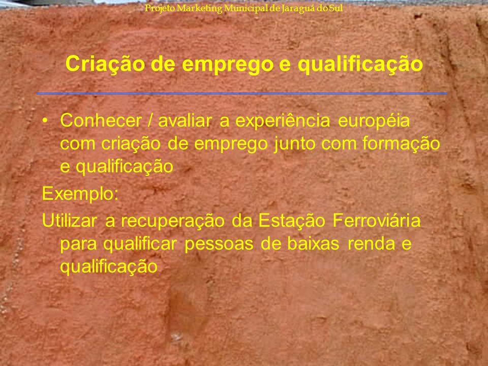 Criação de emprego e qualificação
