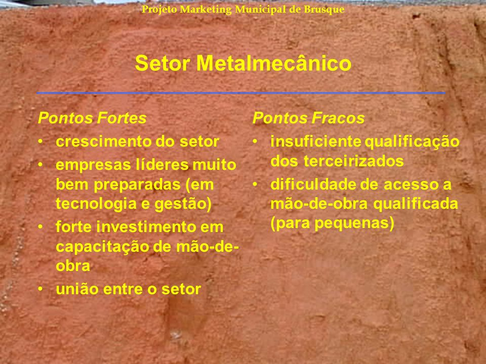 Projeto Marketing Municipal de Brusque