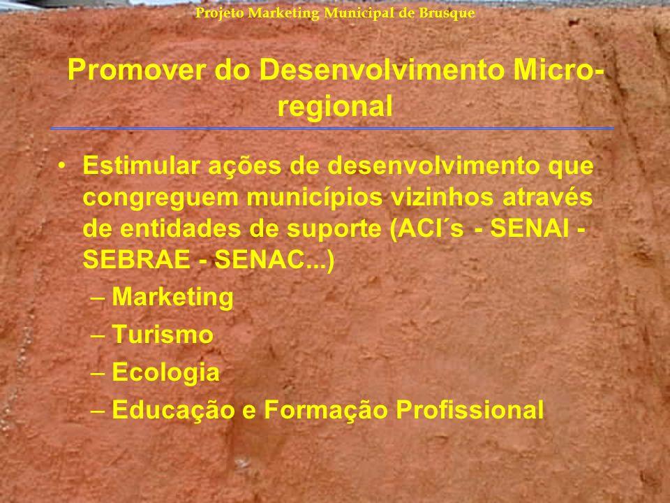 Promover do Desenvolvimento Micro-regional