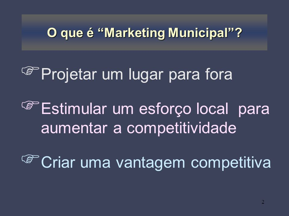 O que é Marketing Municipal
