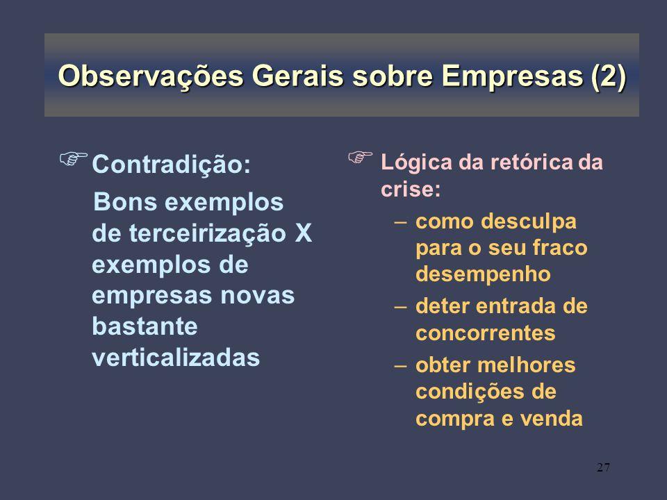 Observações Gerais sobre Empresas (2)