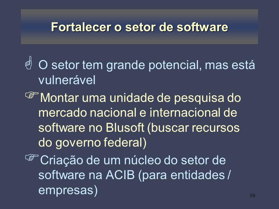Fortalecer o setor de software