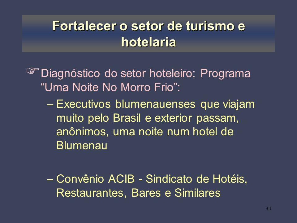 Fortalecer o setor de turismo e hotelaria
