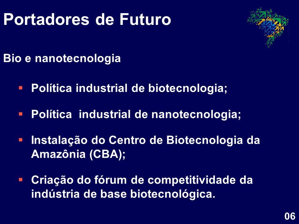 Portadores de Futuro Bio e nanotecnologia