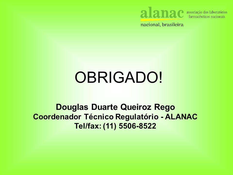 Douglas Duarte Queiroz Rego Coordenador Técnico Regulatório - ALANAC