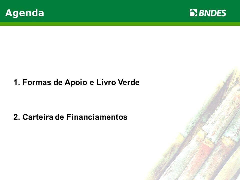 Agenda Formas de Apoio e Livro Verde Carteira de Financiamentos