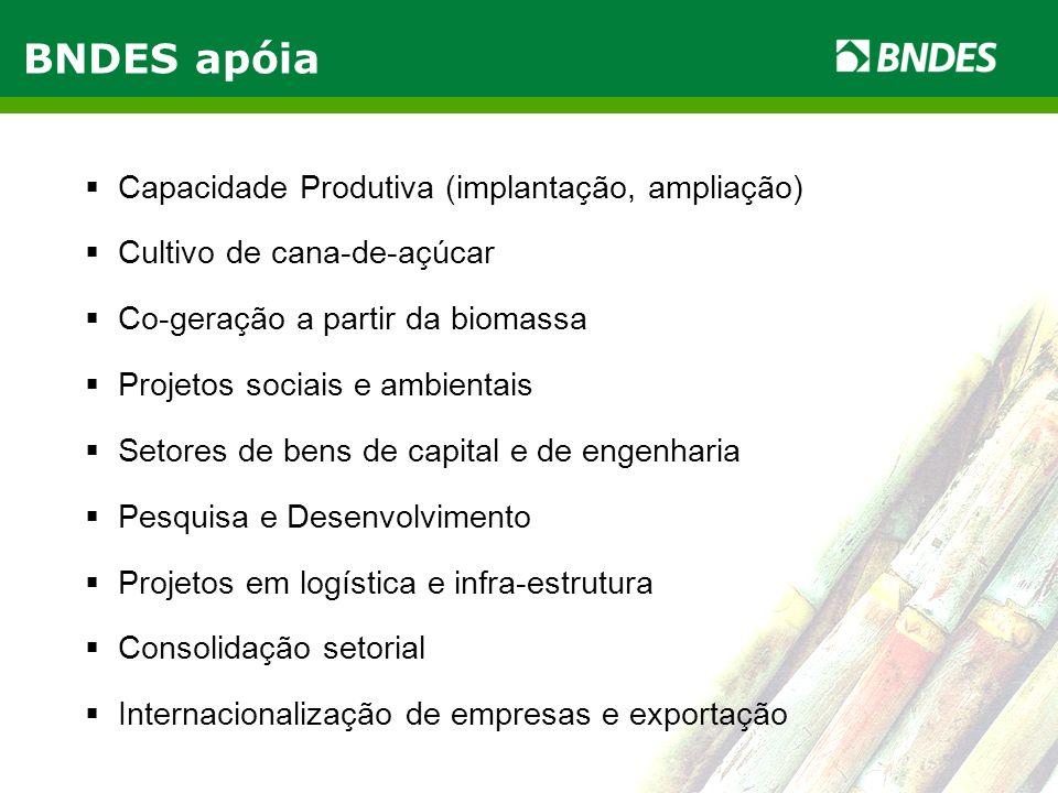 BNDES apóia Capacidade Produtiva (implantação, ampliação)
