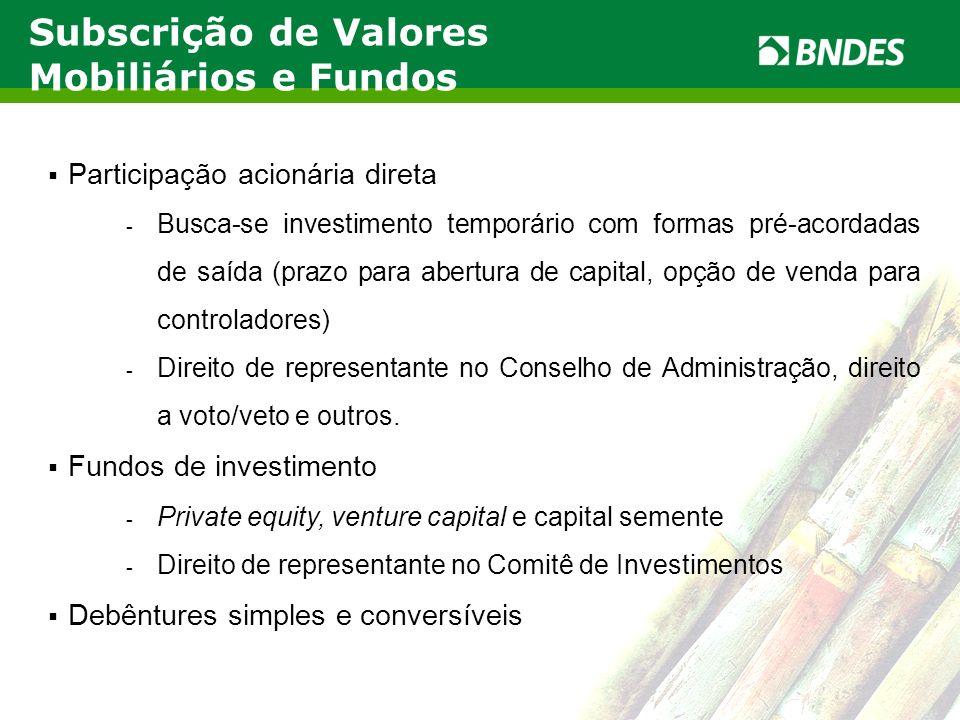 Subscrição de Valores Mobiliários e Fundos