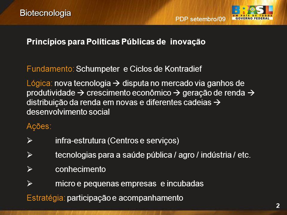 Biotecnologia Princípios para Políticas Públicas de inovação