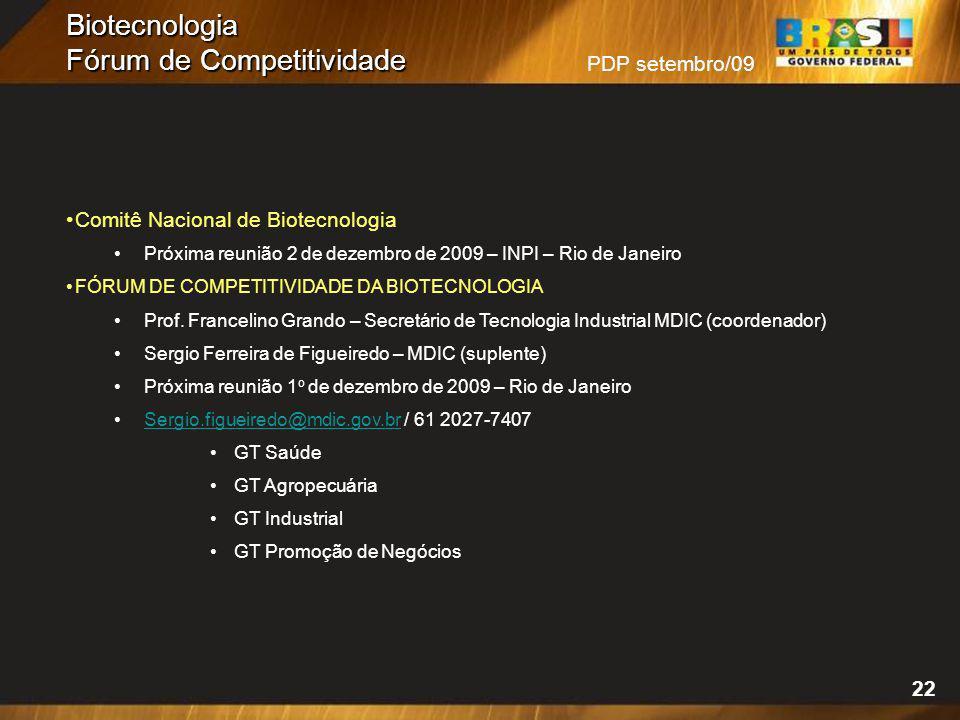 Biotecnologia Fórum de Competitividade