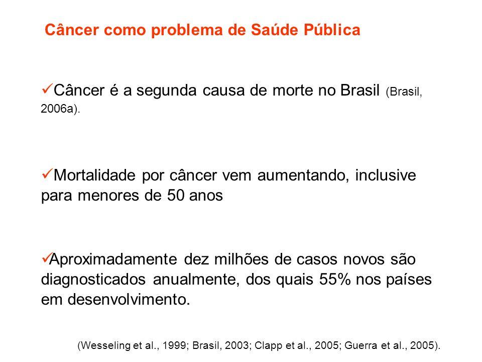Câncer é a segunda causa de morte no Brasil (Brasil, 2006a).