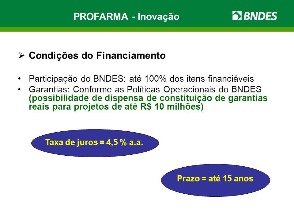 Condições do Financiamento