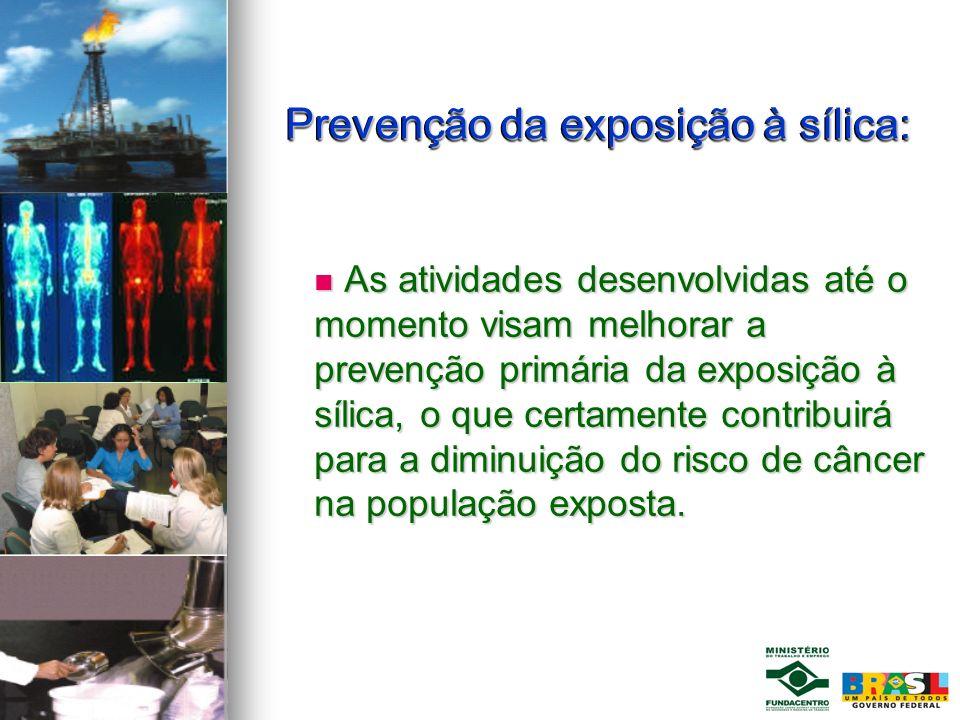 Prevenção da exposição à sílica:
