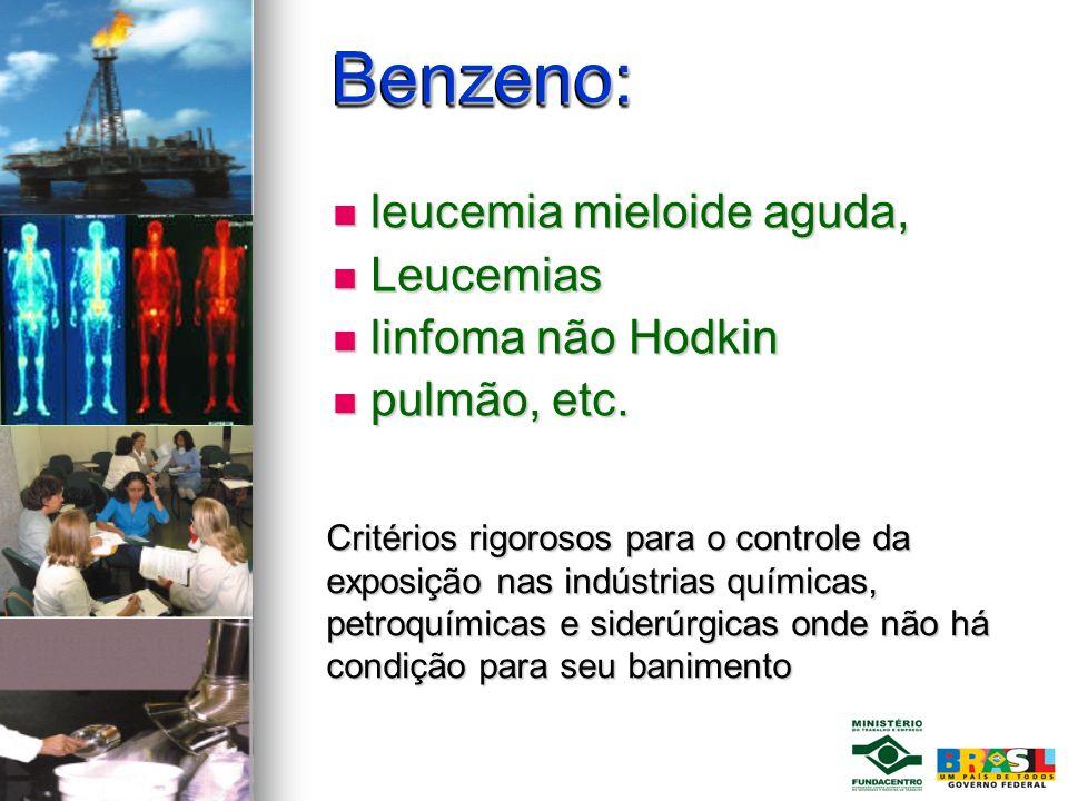 Benzeno: leucemia mieloide aguda, Leucemias linfoma não Hodkin