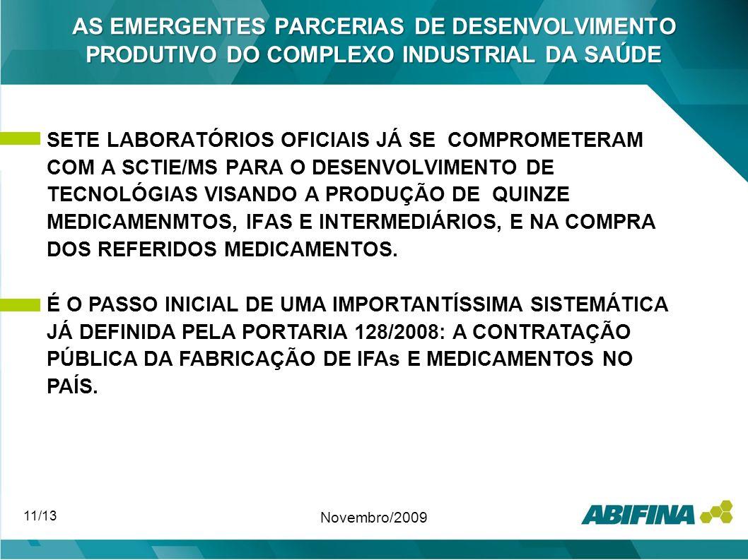 AS EMERGENTES PARCERIAS DE DESENVOLVIMENTO PRODUTIVO DO COMPLEXO INDUSTRIAL DA SAÚDE