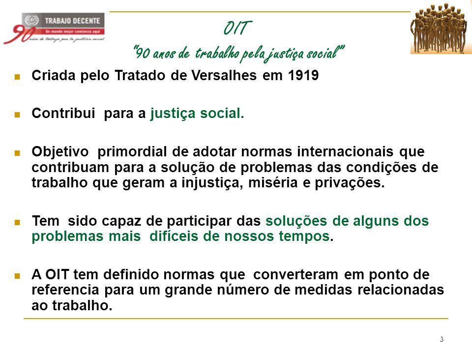 OIT 90 anos de trabalho pela justiça social