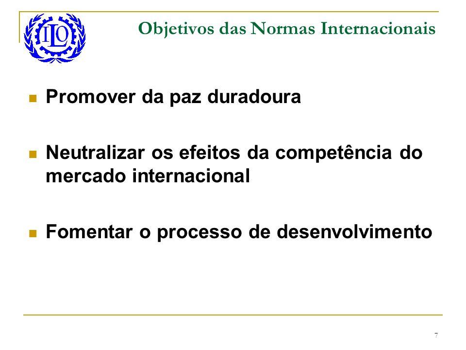 Objetivos das Normas Internacionais
