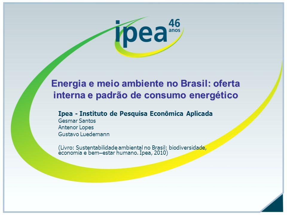 Energia e meio ambiente no Brasil: oferta interna e padrão de consumo energético