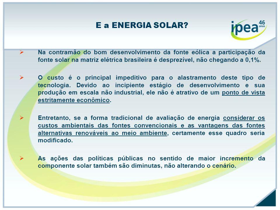 E a ENERGIA SOLAR