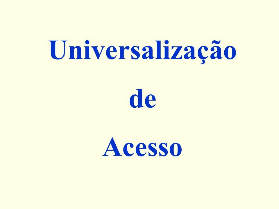 Universalização de Acesso