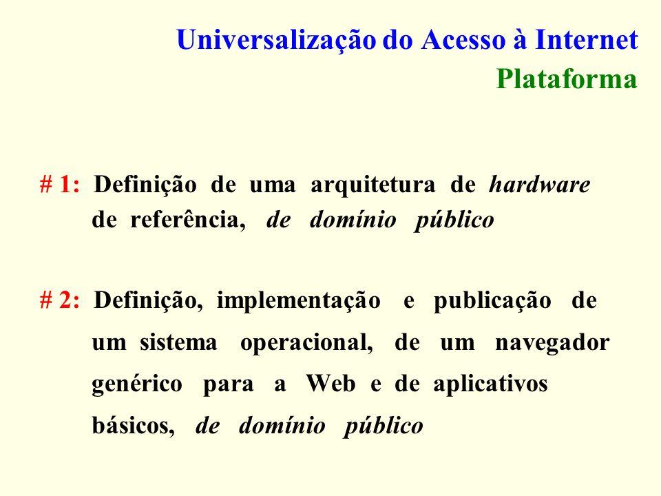 Universalização do Acesso à Internet Plataforma