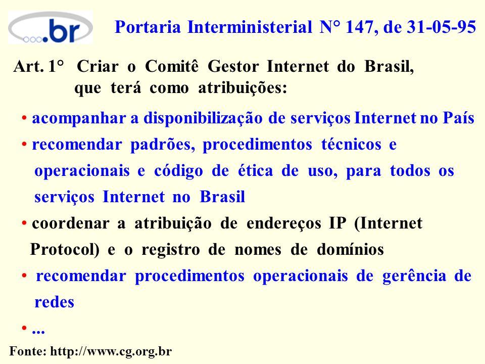 Portaria Interministerial N° 147, de 31-05-95