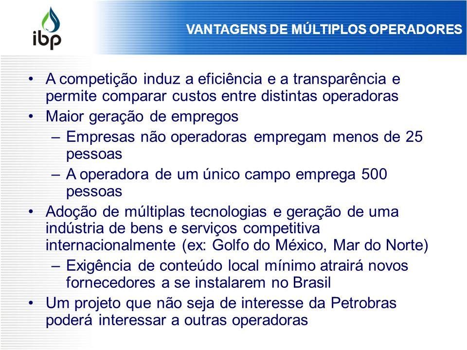 VANTAGENS DE MÚLTIPLOS OPERADORES