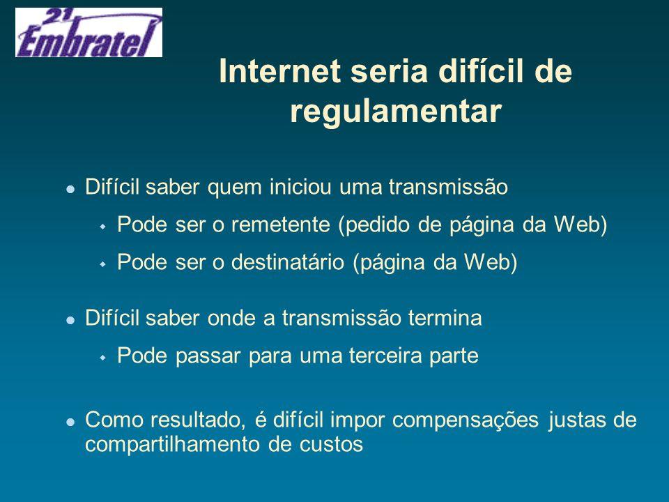 Internet seria difícil de regulamentar