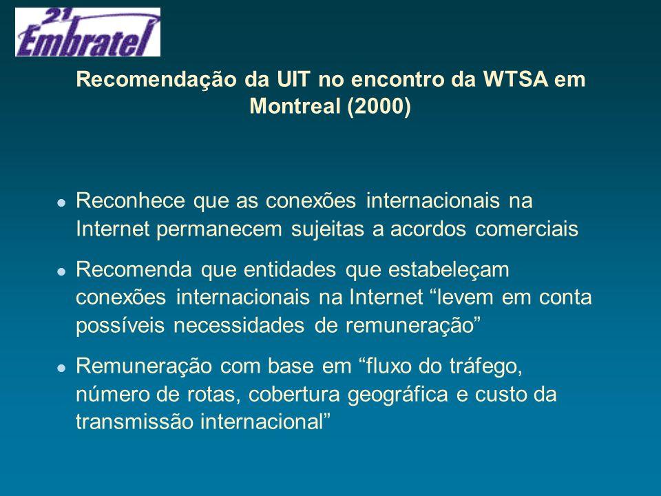 Recomendação da UIT no encontro da WTSA em Montreal (2000)